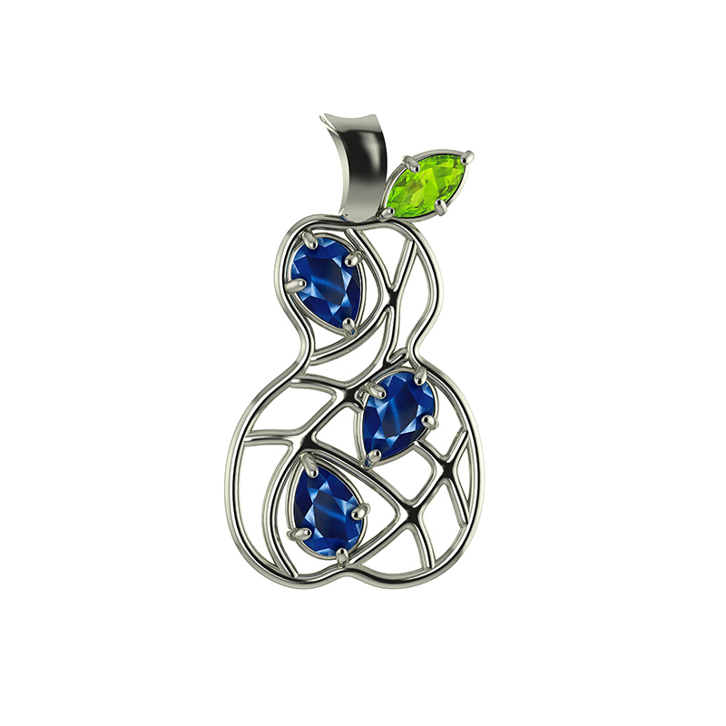 Pear White Gold Sapphires 2